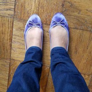 NWT purple satin ballet flats